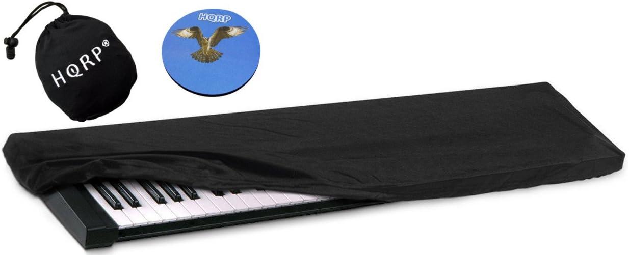 HQRP Funda antipolvo, cubierta para Korg SV-1 BK 73 / SV-1 73 Tecla inversa / Pa4X / Pa3X / Pa3X Le sintetizador + HQRP Posavasos