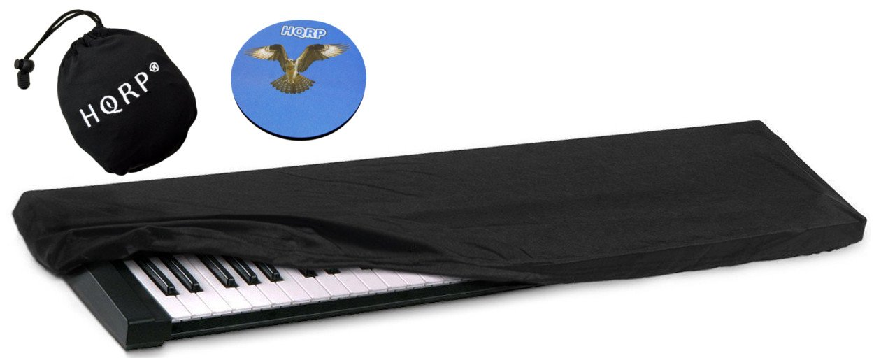 HQRP Housse élastique de poussière pour clavier de 61-76 touches pour Korg SV-1 BK 73 / SV-1 73 Reverse Key / Pa4X / Pa3X / Pa3X Le Synthétiseur / Piano numérique + HQRP Sous-verre 887774711121521