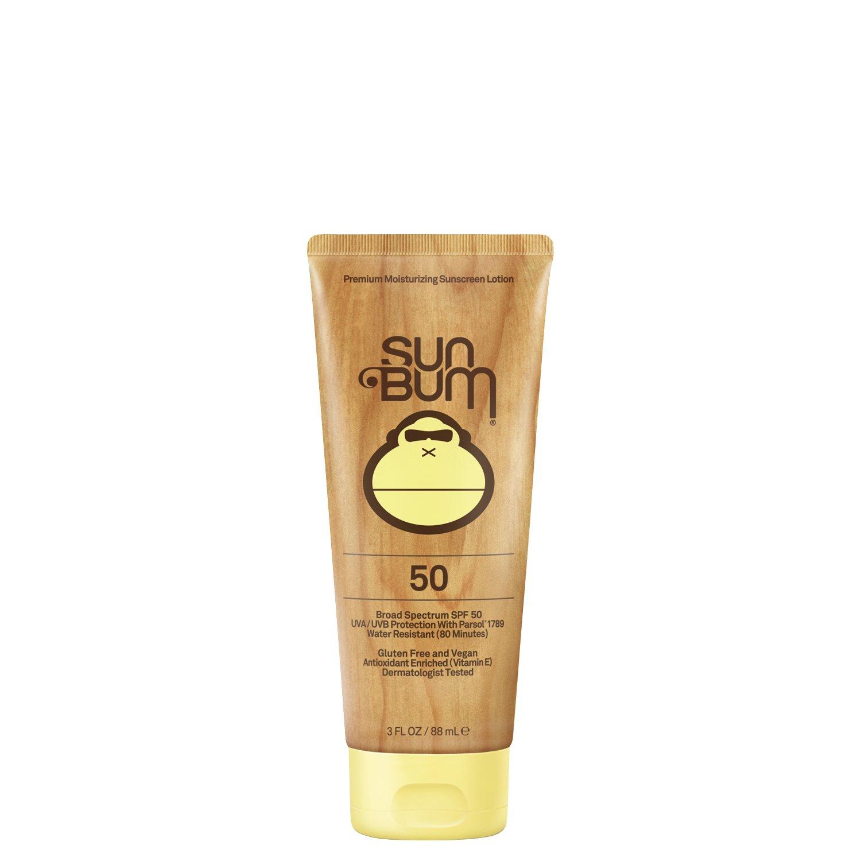 Sun Bum Original Moisturizing Sunscreen SPF 50 Lotion - Broad Spectrum UVA/UVB - Water Resistant & Non-Greasy Protection, Hypoallergenic, Paraben Free, Gluten Free - SPF 50 - 3 oz. Tube - 1 Count