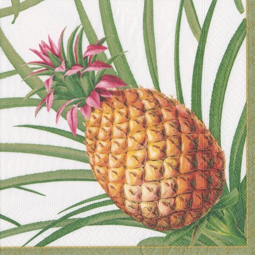 Paper Napkins Pineapple Decor Country Christmas Decorations Rustic Decor Dessert Napkin Pk of 40
