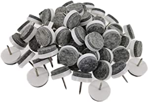 40pcs Furniture Felt Pad Round Heavy Duty Nail-on Slider Glide Pad Floor Protector for Wooden Furniture Chair Tables Leg Feet(Dia 1.1