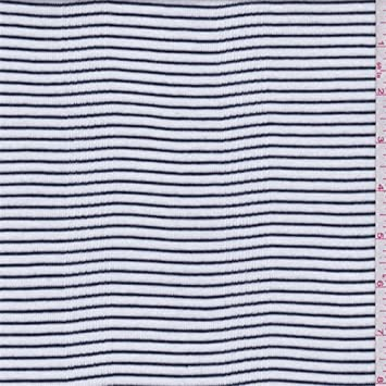 9a2ed26e463 Image Unavailable. Image not available for. Color: White/Navy Stripe Cotton  Rib ...