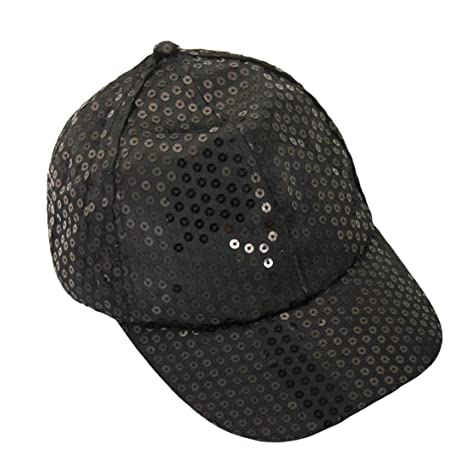 Tongshi Lentejuelas Perla gorra de béisbol (Negro)