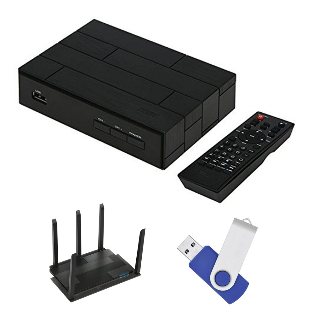 Terk Complete Cut The Cord Bundle With Fully Functional TV Tuner Indoor HD Antenna With Wi Fi Extendero and 16GB Of DVR Record space by Terk