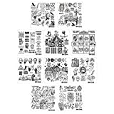Bundle Monster 10pc Creepy Halloween Nail Stamp Plate Set - House of Horrors