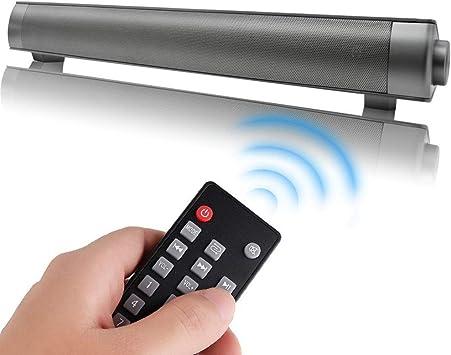 WSMLA Negro Con cable e inalámbrico Bluetooth Teatro en casa Televisor Estéreo Altavoz con control remoto