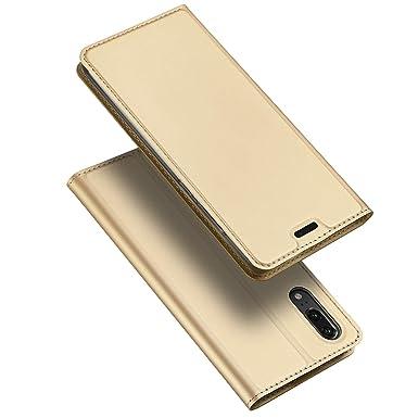 bf9a039a5bbc4 Leder Hülle Handy Schutzhülle aus Premium PU Flip Case Brieftasche Leder  Cover Handytasche Etui für Huawei