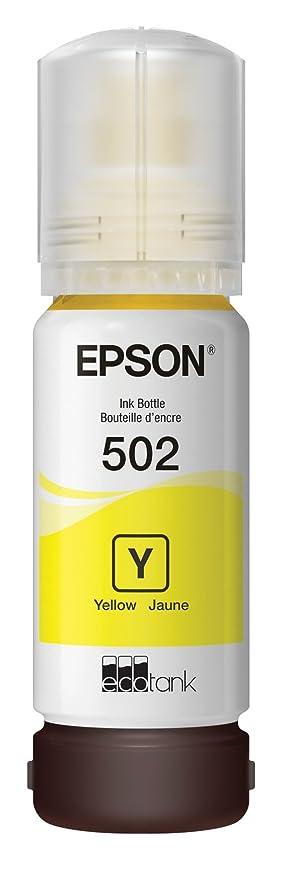 Epson T502 EcoTank Yellow Auto-Stop Ink Bottle (ET-2700, ET-2750, ET-3700,  ET-3750, ET-4750) (T502420-S)