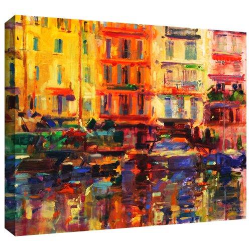art-wall-peter-graham-golden-harbour-vista-unwrapped-canvas-flat-18cm-x-22cm