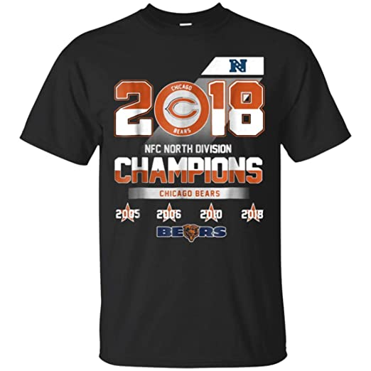 2018 NFC North Division Champions Chicago Bears Shirt (Unisex T-Shirt Black  fb9a6e041