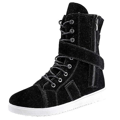 Zapatos Hombre Black Friday Casuales Invierno Botas Martin para Hombre Botas Inglaterra Botas Militares para Hombre Botas de Herramientas para Trabajo ...