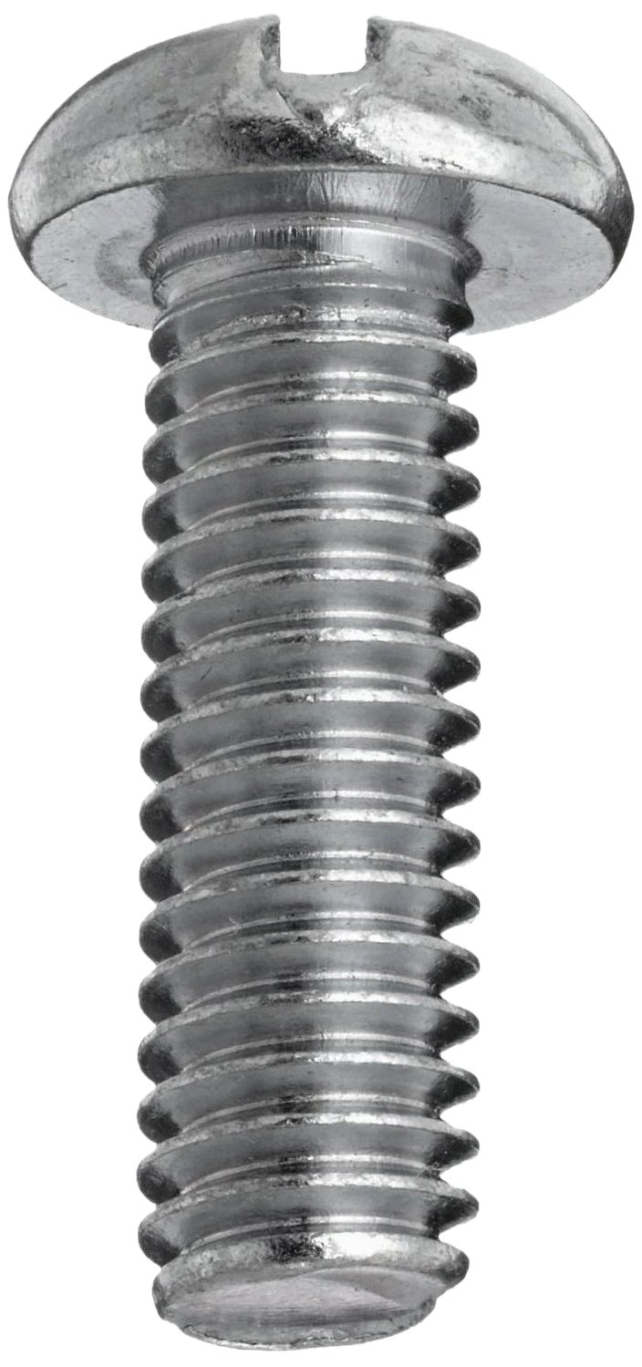 #8-32 Threads Plain Finish 316 Stainless Steel Machine Screw Slotted Drive Pack of 25 3//4 Length Round Head