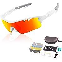 DUDUKING Gafas Sol Polarizadas Hombre Mujer Gafas de Sol Deportivas UV 400 Protección Gafas con 5 Rodajas De Lentes…