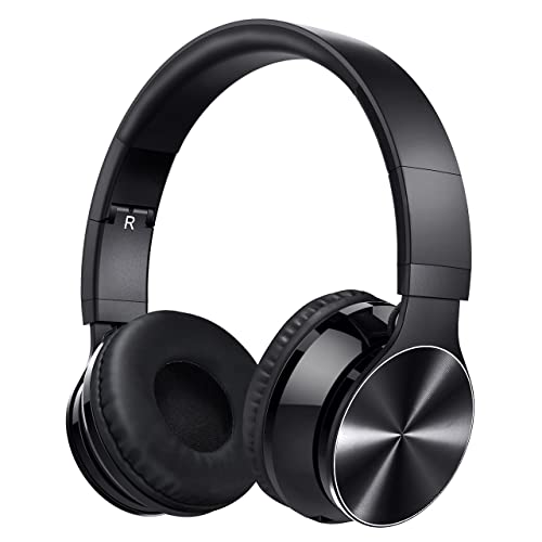Bluetooth Headphones, VicTsing Wireless Foldable Over-Ear Hi-Fi Stereo Headset With Noise Cancelling Microphone, Supports Hands-Free Calling and Wired Mode for PC/ Cell Phones/ TV - Black