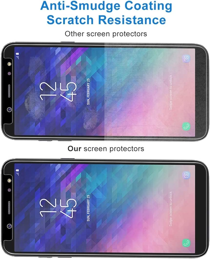 2018 Screen Protector for Samsung YSH Cell Phone Accessories 100 PCS 0.26mm 9H 2.5D Tempered Glass Film for Galaxy A6