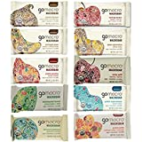 GoMacro Bars / Go Macro Organic Nutrition Bars Variety, 1.9 oz- 2.5 oz (Pack of 20 / 2 Each of 10 Flavors ) with Snack Smart Clip