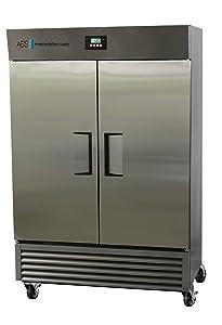 American BioTech Supply ABT-AFPP-49 Stainless Steel Premier Freezer, One Swing Stainless Steel Door, 49 cu. ft. Capacity