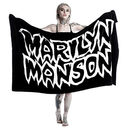 911bc669e56ed4 Kill Star X Marilyn Manson Beach Towel - Avoid The Sun: Amazon.co.uk:  Kitchen & Home
