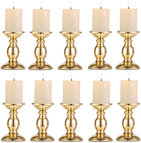 Gold Metal Candle Holder 9/'/' H Elegant Tealight Holder Centerpieces for Wedding