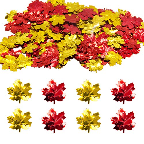 Thanksgiving Maple Leaves Confetti