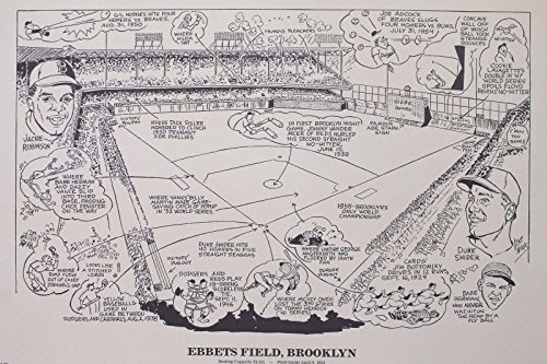 (Ebbets Field Brooklyn NY 16x20 Sporting News Poster Lithograph *READY TO FRAME*)