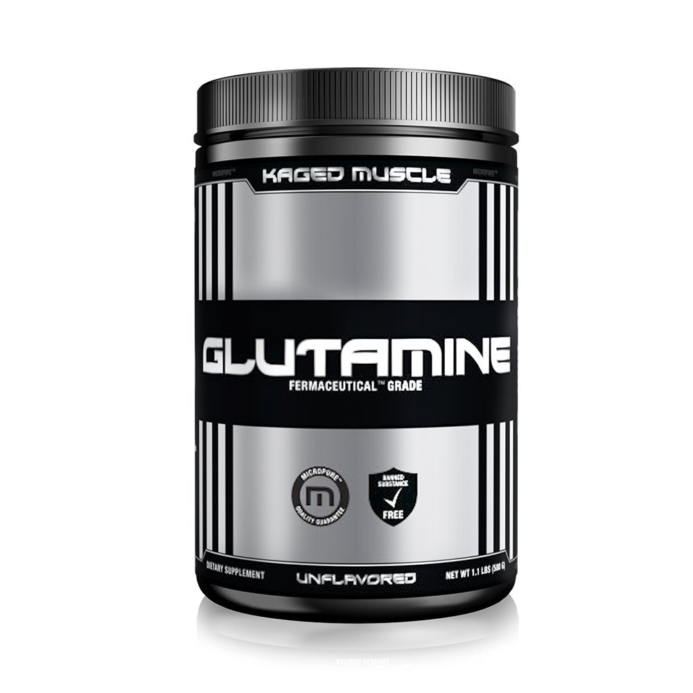 Kaged Muscle Pure L-Glutamine Powder, Zero Other Ingredients, 500 g, Unflavored