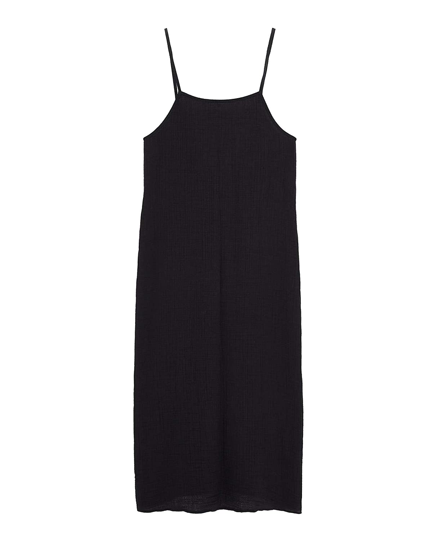 Zara 0017/200 - Vestido con Textura para Mujer - Negro - Small ...