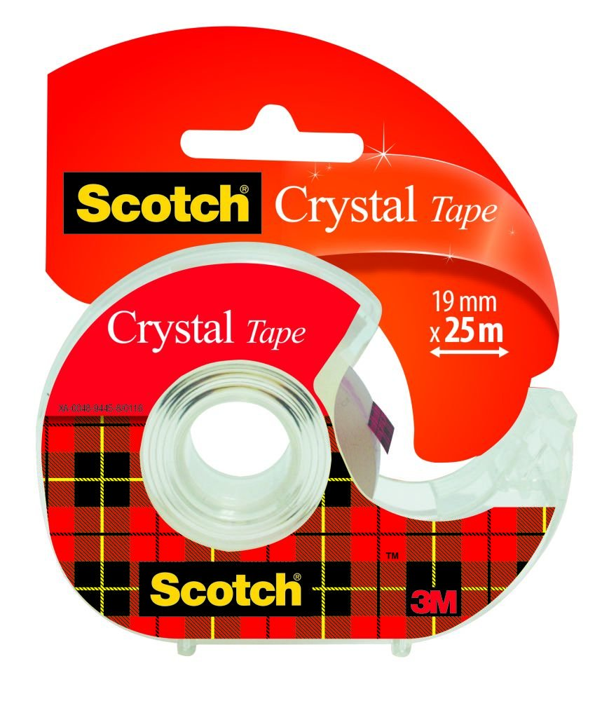 Scotch UU004245997 - Cinta supertransparente en portarrollos: Amazon.es: Oficina y papelería