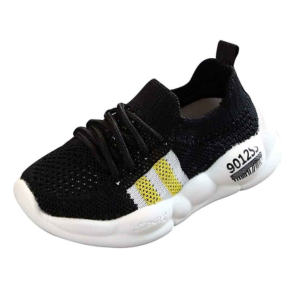 Toddler Girls Boys Tennis Shoes Breathable Casual Walking Shoes for 1-6 Years Old Children Mesh Patchwork Sneaker