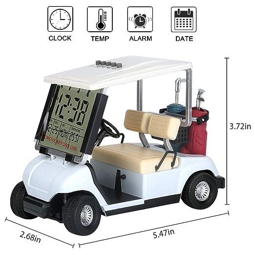 Crestgolf Mini despertador de carrito de Golf, paquete de 1 pieza: Amazon.es: Deportes y aire libre