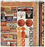 Reminisce TBAC-100 Basketball Cardstock Sticker, 12' by 12', Multicolor
