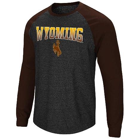 newest f7129 bf776 Amazon.com : Mens Wyoming Cowboys Long Sleeve Raglan Tee ...