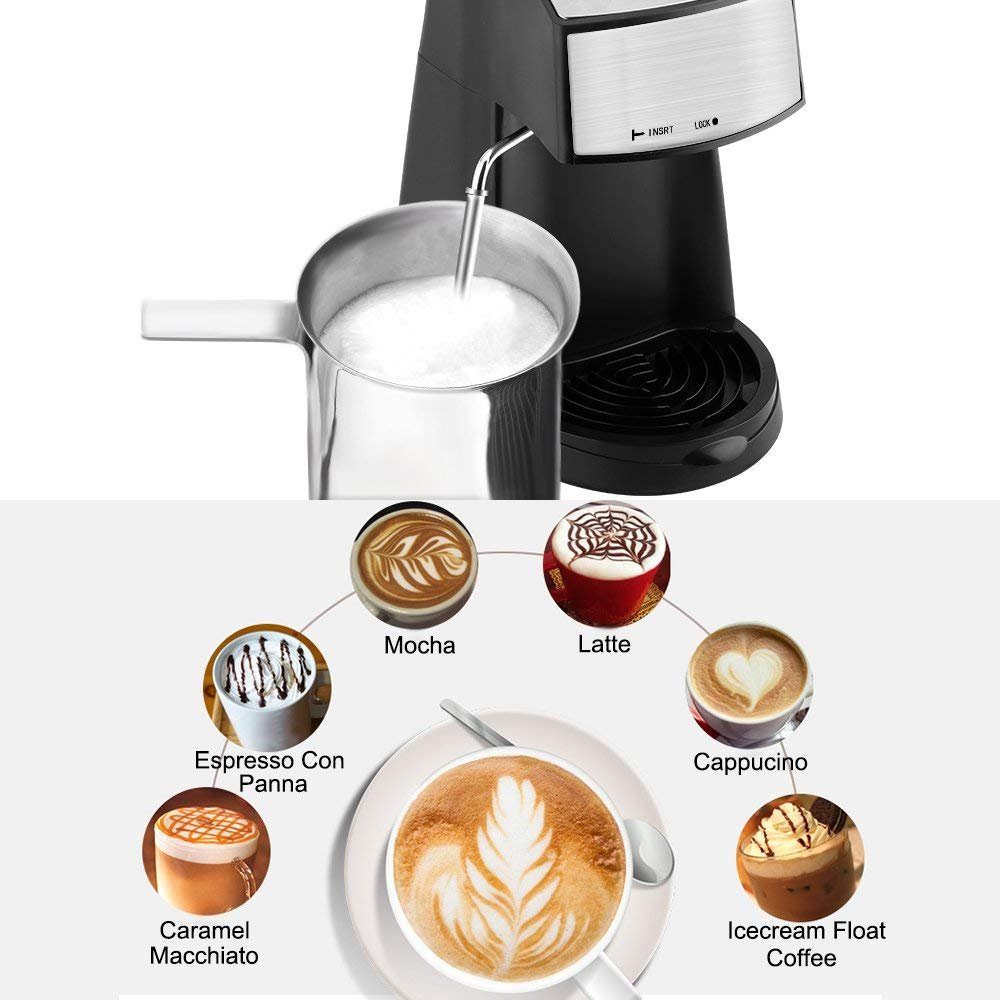 oneday Cafetera Express, 4 Tazas 800W Cafetera Expresso ...