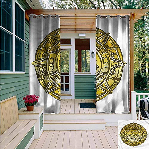 Beihai1Sun Indoor/Outdoor Curtains,Pirate Medallion with Scary Skull,Simple - Medallion Pinecone