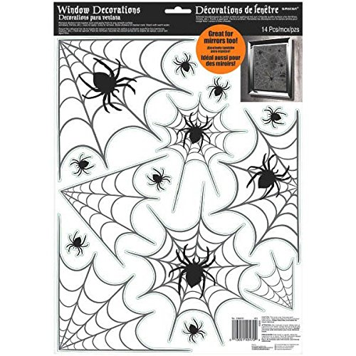 Amscan Haunted House Spider Web Halloween Trick or Treat Party Decoration, Vinyl, 17