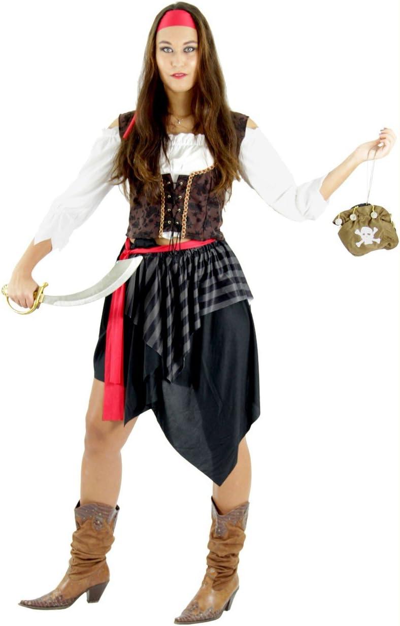 Foxxeo Traje de Pirata para el Carnaval de señoras Falda Pirata ...