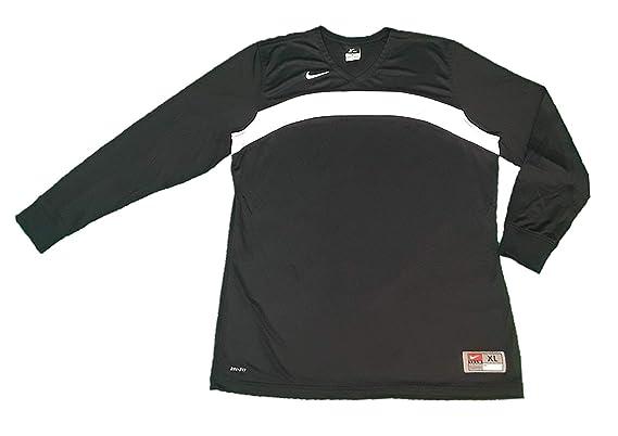 8dc0c91e4 Amazon.com: NIKE Womens Dri Fit Elite Defender Long Sleeve Shooting Jersey  Shirt (Black/White, X-Large): Clothing