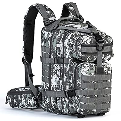 Gelindo Military Tactical Backpack, Army Molle Bag, Small Rucksack for Hunting, Survival, Camping, Trekking, School, 35L