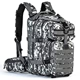 Tactical Backpack - Gelindo Military Tactical Backpack, Hydration Backpack, Army Molle Bug-out Bag, Small Rucksack for Hunting, Survival, Camping, Trekking, School, 35L (ACU-Grey)
