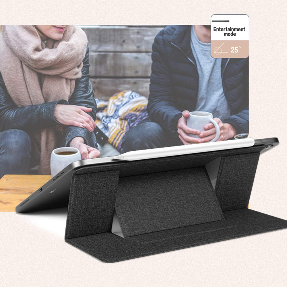 Tablets and Laptops up to 15.6 Laptop Stand ipad TONWON Invisible Notebook Holder Adjustable Height Folding Laptop Kickstand Compatible with MacBook Air Lightweight for Travel Gray