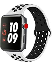 ATUP Compatible Apple Watch Strap 38mm 42mm 40mm 44mm, Soft Silicone Replacement Watchband Compatible with for iWatch Series 1/2/3/4