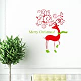dzt1968 Wall Quotes Decal Wall Sticker Christmas Removable Vinyl Art Window Wall Sticker Decals Home Decor,Size: 49*55cm