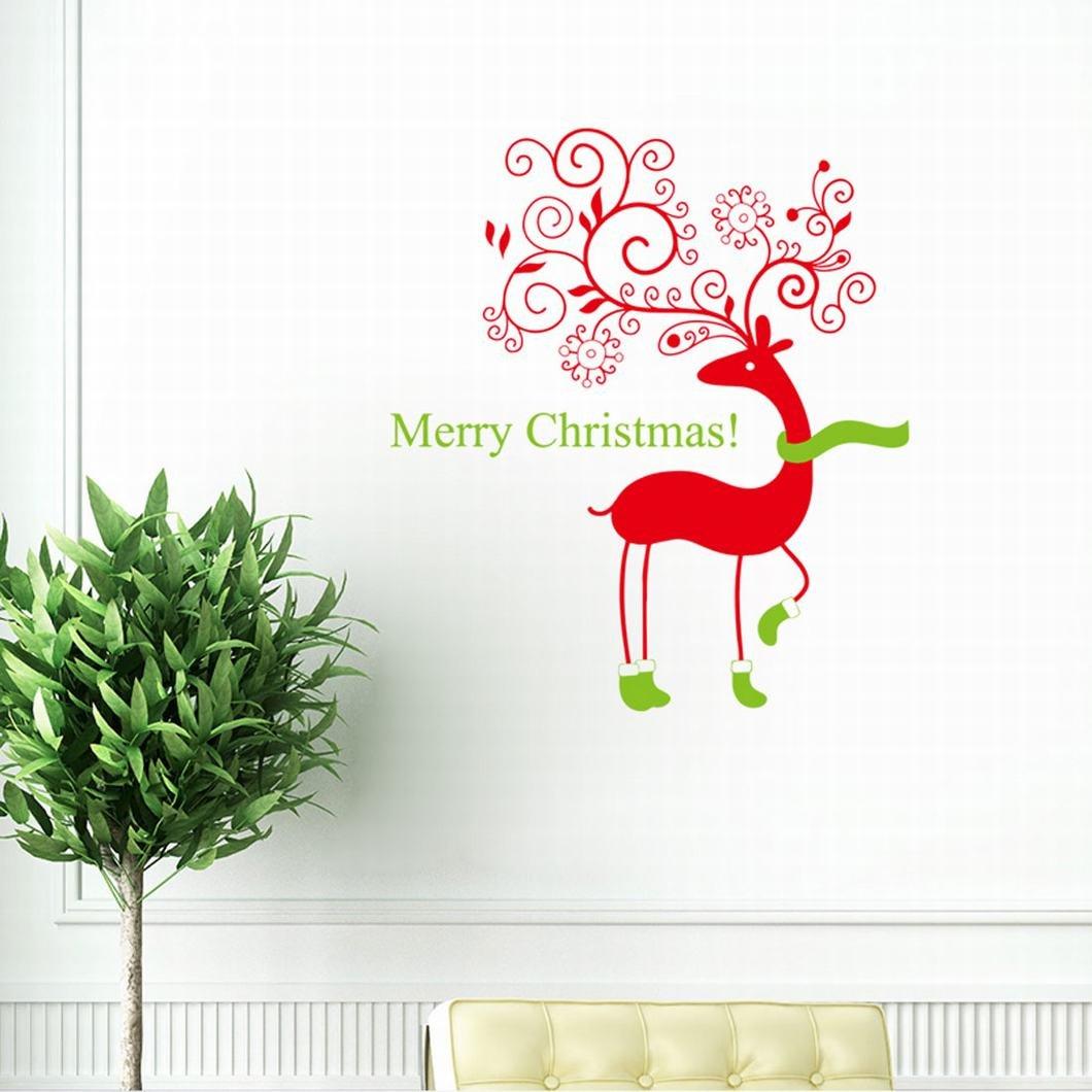 christmas vinyl stickers for box frames