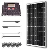 Renogy 100 Watt 12 Volt Monocrystalline Solar Starter Kit with 30A PWM Controller - LCD Display