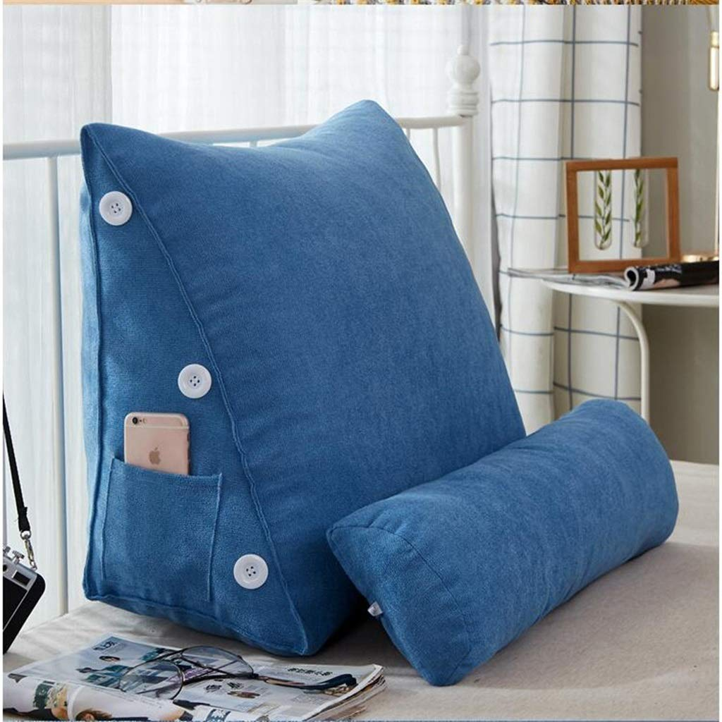Lil Band Head Pillow Triangle Cushion, Sofa Office Bay Window Lumbar Pillow/Lumbar Support Waist/Pillow (can Be Adjusted in Three Steps) (Color : Blue) by LILISHANGPU (Image #3)