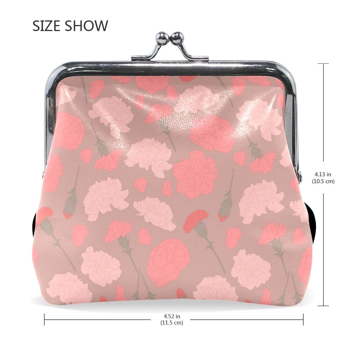 MALPLENA Carnation Petal Pattern change purse for women leather purse