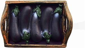 3D Vegetables Eggplant Fridge Magnet Home Kitchen Decoration Magnetic Sticker Food Refrigerator Magnet Collection