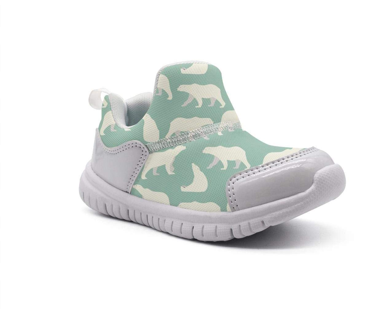 ONEYUAN Children Green Sun Bear Relax Kid Casual Lightweight Sport Shoes Sneakers Walking Athletic Shoes
