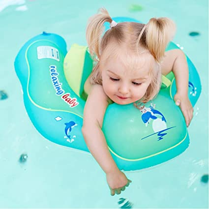 165bea3339 JT JUSTIME Baby Swimming Float,Children Waist Inflatable Swimming Ring with  double-decked safety
