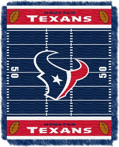 The Northwest Company Officially Licensed NFL Houston Texans Field Bear Woven Jacquard Baby Throw Blanket, 36